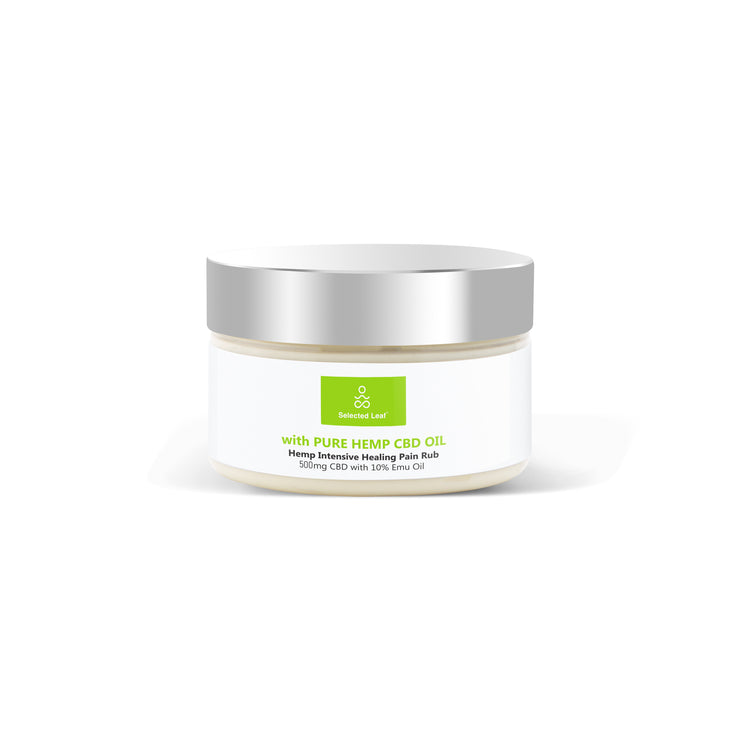Super  Intensive Healing Pain Cream  with 500MG + 10% EMU Oil - Selected Leaf