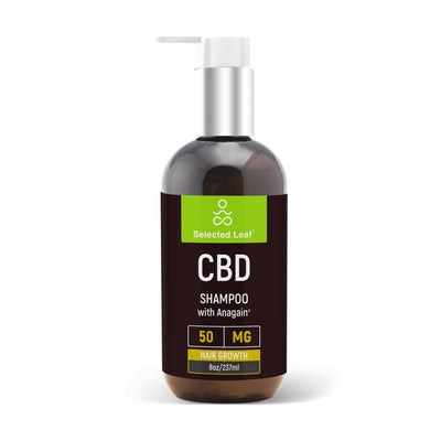 Super  Powerful Hair Shampoo with 50mg of pure CBD  + Anagain - Selected Leaf