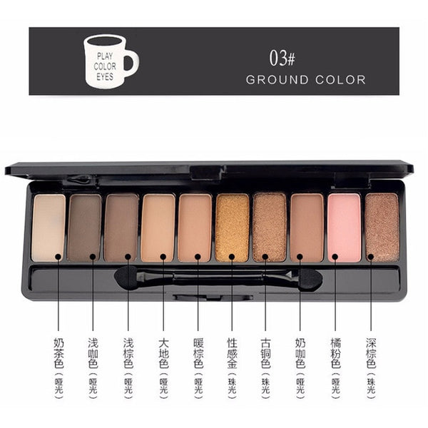Beauty Essentials Eye Shadow Lameila Brand 10or12 Color Eye Shadow Of Cherry Blossoms Suit Pearl Light Dumb Light Lasting Coloration Waterproof Eye Shadow