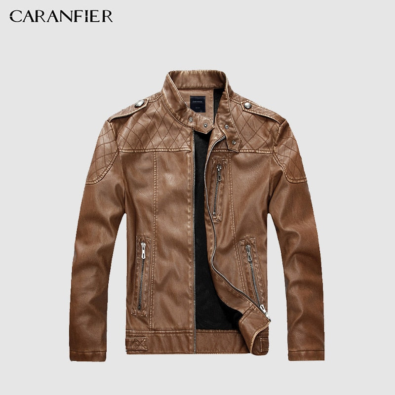 Men High Quality Faux Leather Jacket