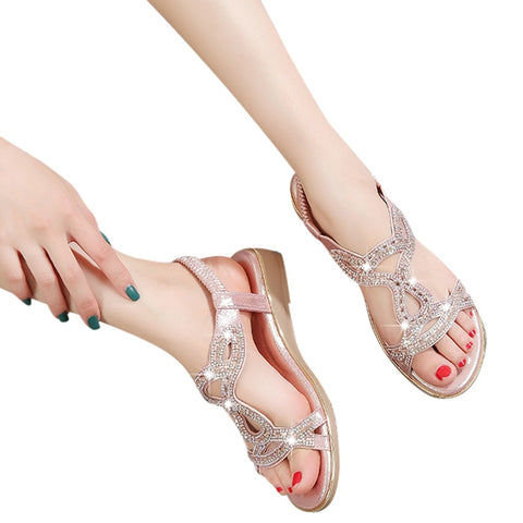 Bohemian crystal sandals