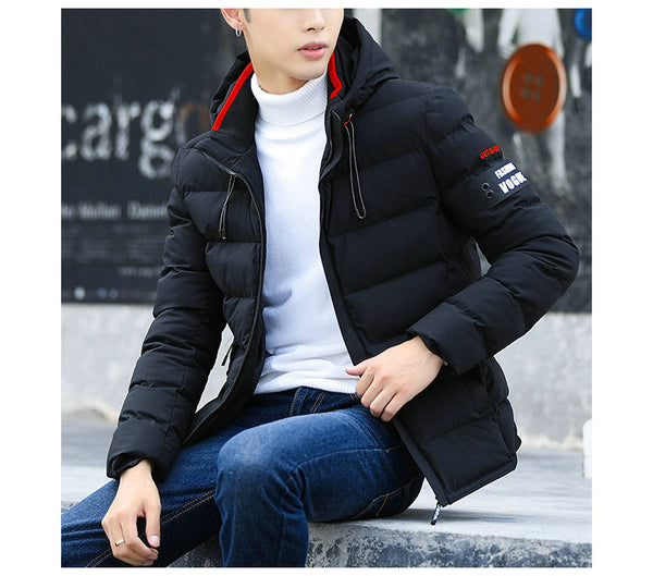 Classic winter hooded jacket
