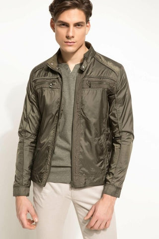 Desperate kraft army styled PU Jacket