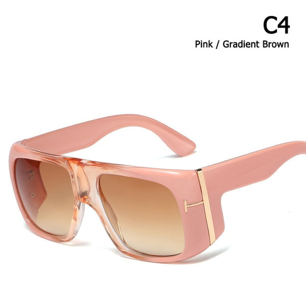 Unisex oversized gradient sunglasses