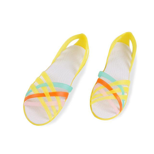 Rainbow jelly sandals