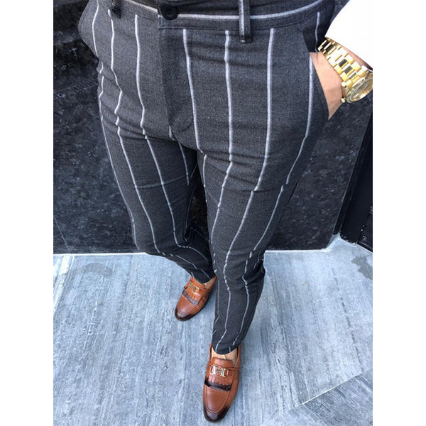 Stripe social slim fit pants