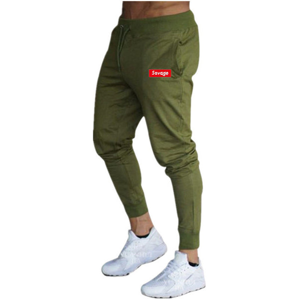 Male fitness joggers sweatpants