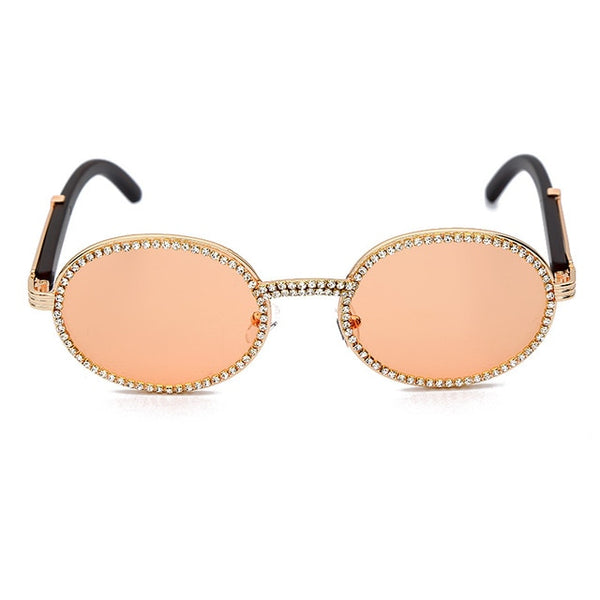 Small round rhinestone sunglasses