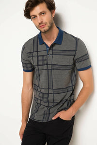 Turn-down collar polo T_shirt