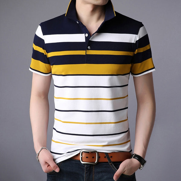 Motivation striped polo shirts