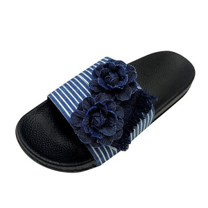 Good tidings classic denim ladies flip flop