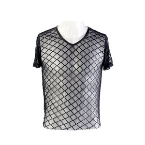 New Haven Men Mesh Gothic Style Tee