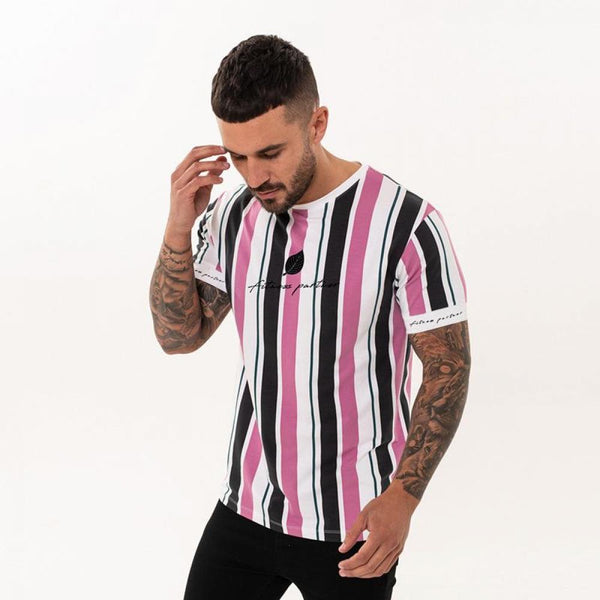 Desperate Kraft striped gents T-shirt