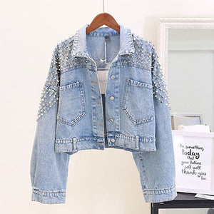 New Rivet Cowboy Designed Denim Jacket