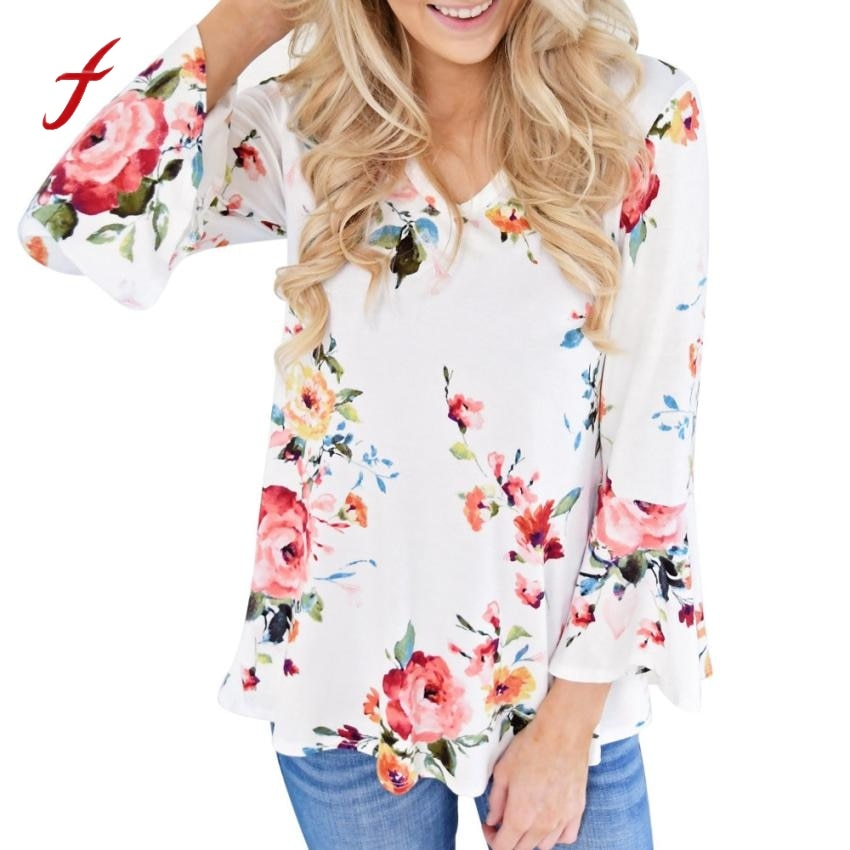 Plus size ladies floral design Top