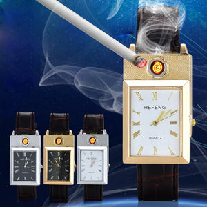 Squared shaped lighter watches
