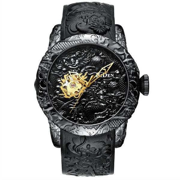 Engraved targaryen dragon wrist watch