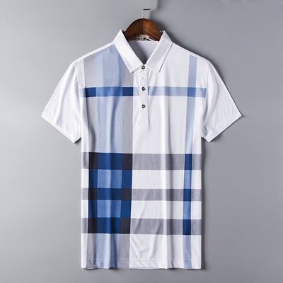 New lifestyle plaid polo shirt