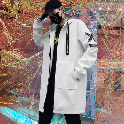 Male printed casual overcoat