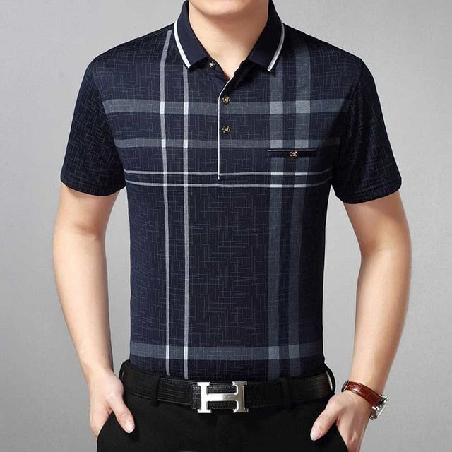 Moon man collar polo Tee