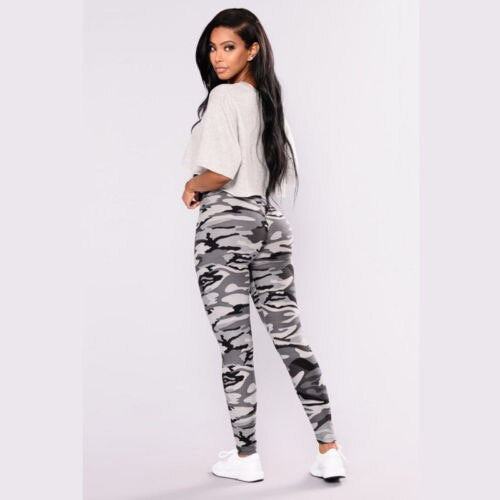 Ladies Camo fitted pants