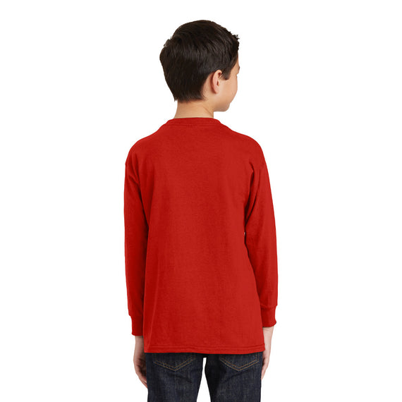 5400B Gildan® Youth Heavy Cotton™ 100% Cotton Long Sleeve T-Shirt