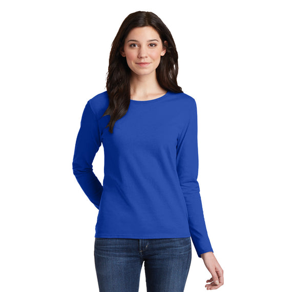 5400L Gildan® Ladies Heavy Cotton™ 100% Cotton Long Sleeve T-Shirt