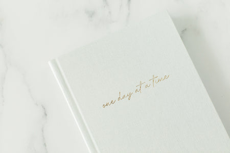 Undated Planner - One Day At A Time - White Pearl