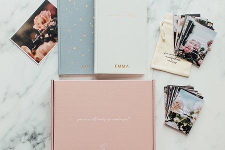 BUNDLE Gift Box - Personalised Undated Planner + Notebook + Affirmation Cards