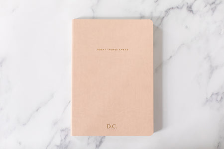 Undated Weekly Planner - Great Things Ahead - Blush