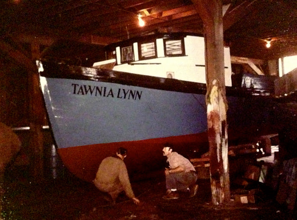 f/v Tawnia Lynn, June 1978, Cordova, Alaska, Alaska Packers Warehouse, photo by Dotty WIdmann
