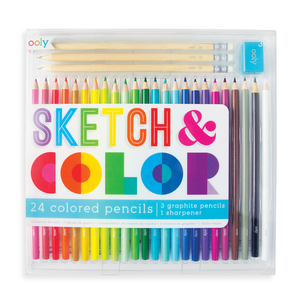Sketch & Color | 24 Colored Pencil Set