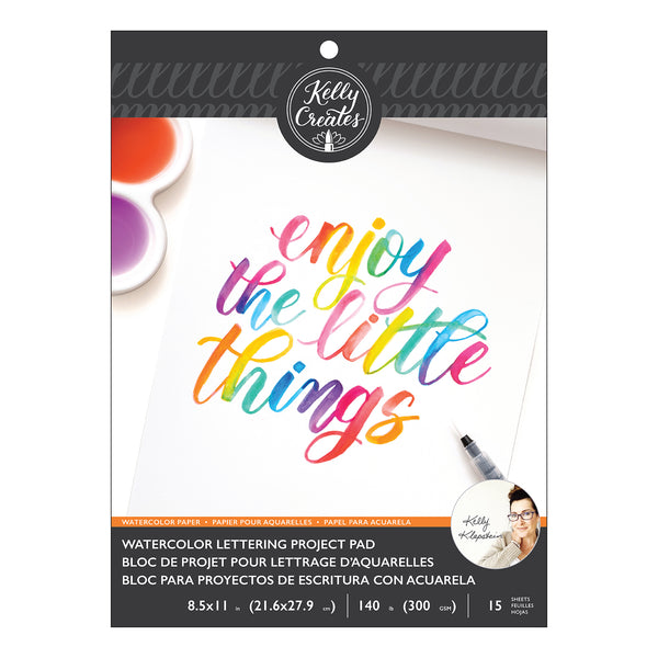 Kelly Creates Watercolor Lettering Project Pad