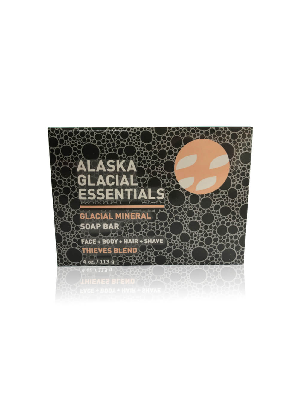 Thieves Blend Glacial Mineral Soap Bar | Face + Body + Hair + Shave