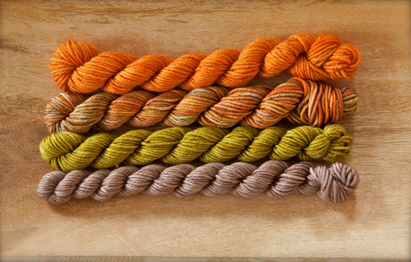 Glenhaven Cashmerino Worsted Mushrooms in the Moss Quartet