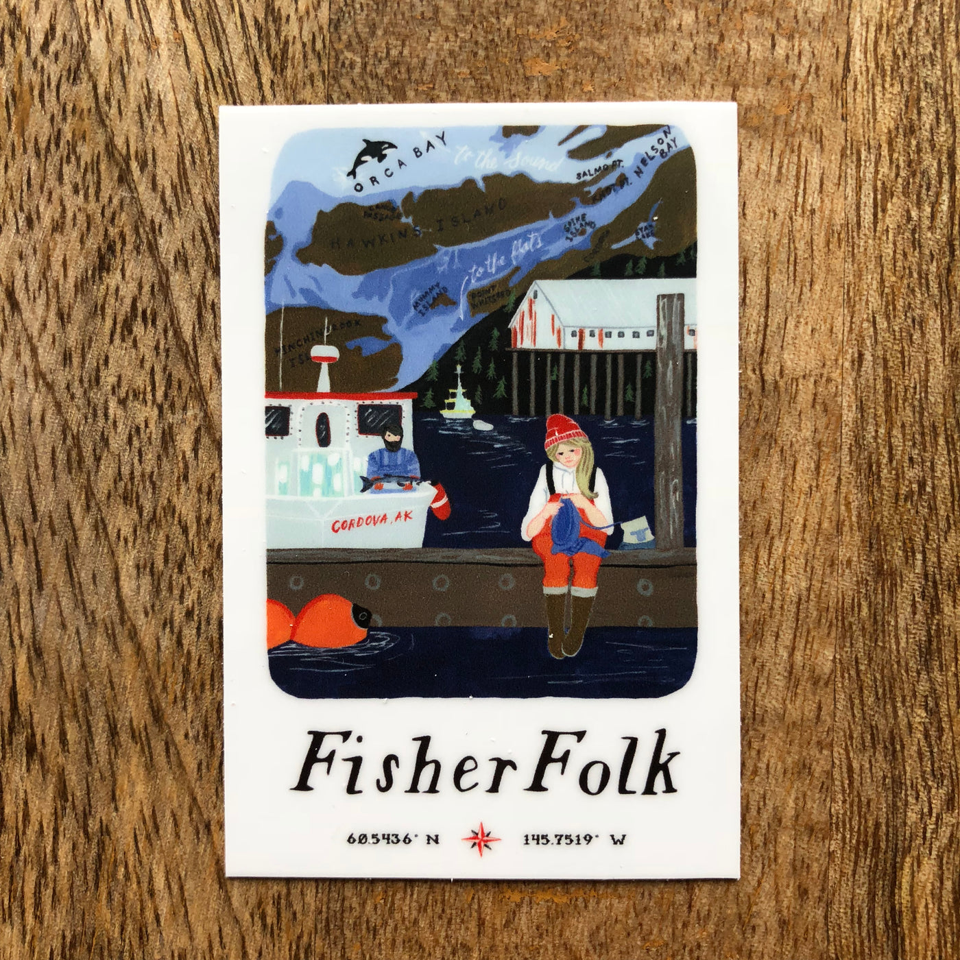 Fisherfolk Sticker