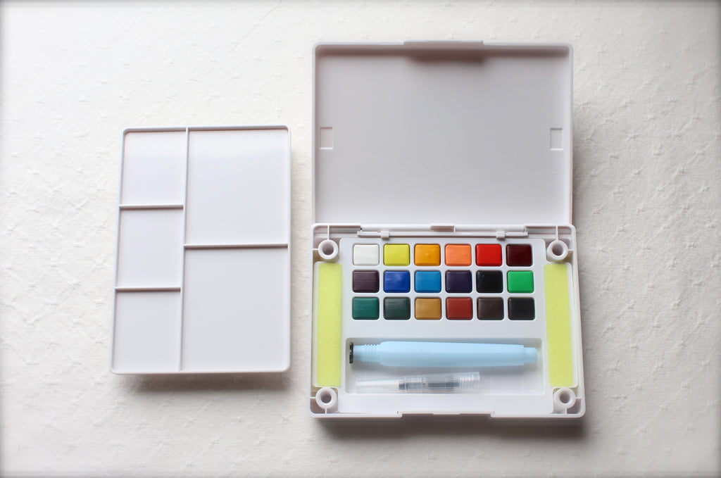 Koi Watercolors - 18 Colors Field Sketch Travel Paintbox