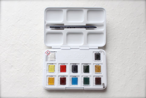 Van Gogh Water Colour  Field Sketch Pocket Paint Box