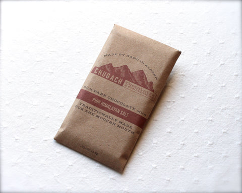 Chugach Chocolates Pink Himalayan Sea Salt Chocolate Bar