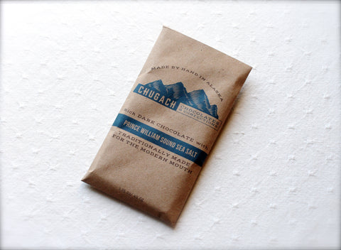 Chugach Chocolates Prince William Sound Sea Salt Chocolate Bar