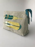 Chirp Collection: Linen Zip Bags