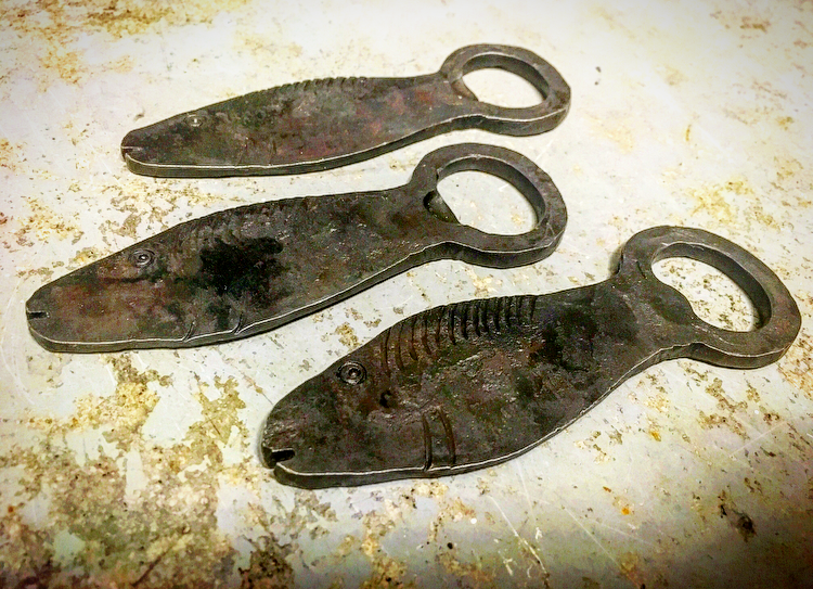 Rustic Iron Fish Bottle Opener