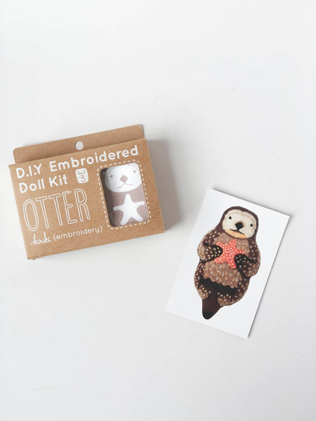 D.I.Y Embroidered Doll Kit | Otter