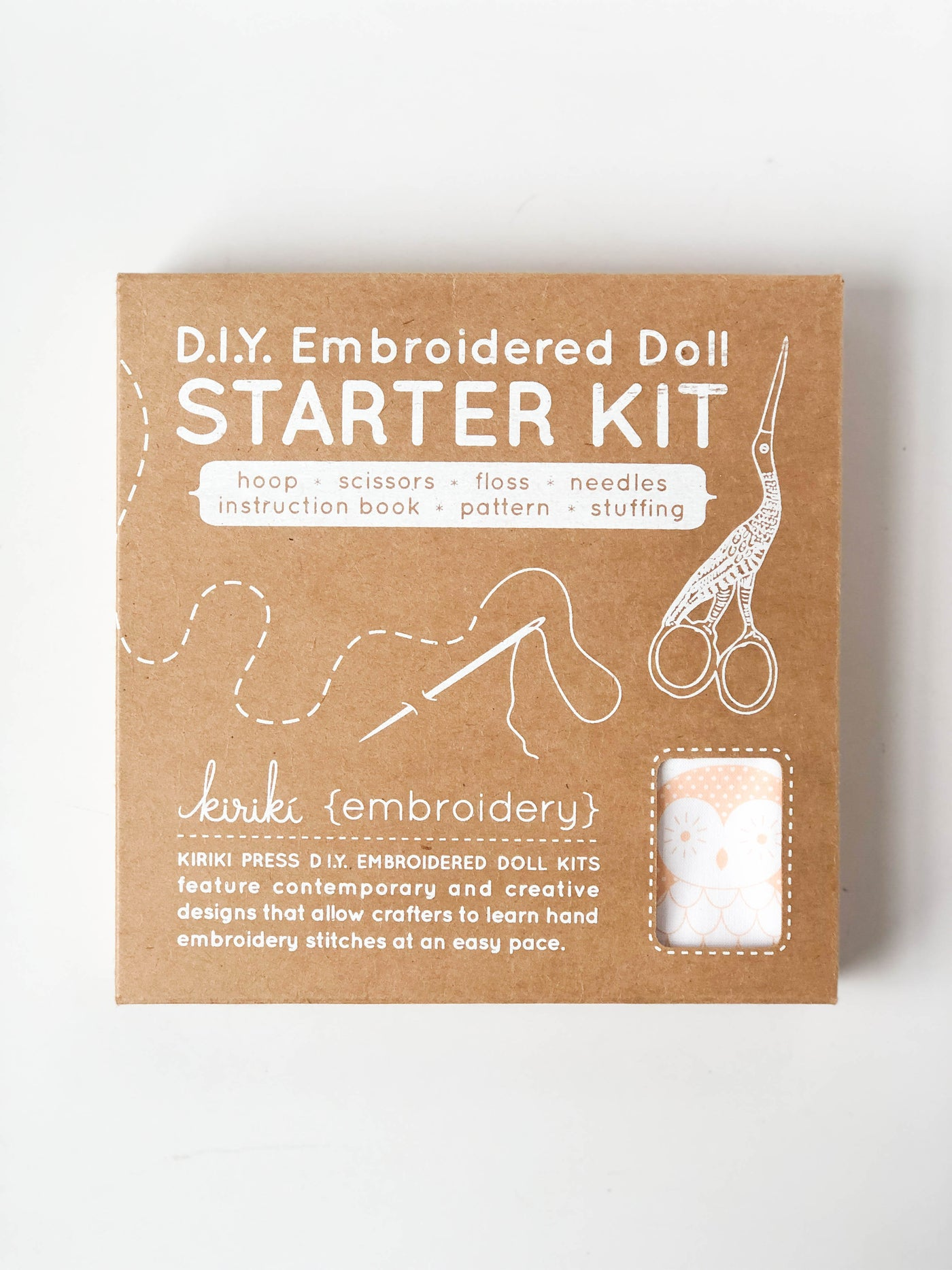 D.I.Y Embroidered Doll Starter Kit | Barn Owl