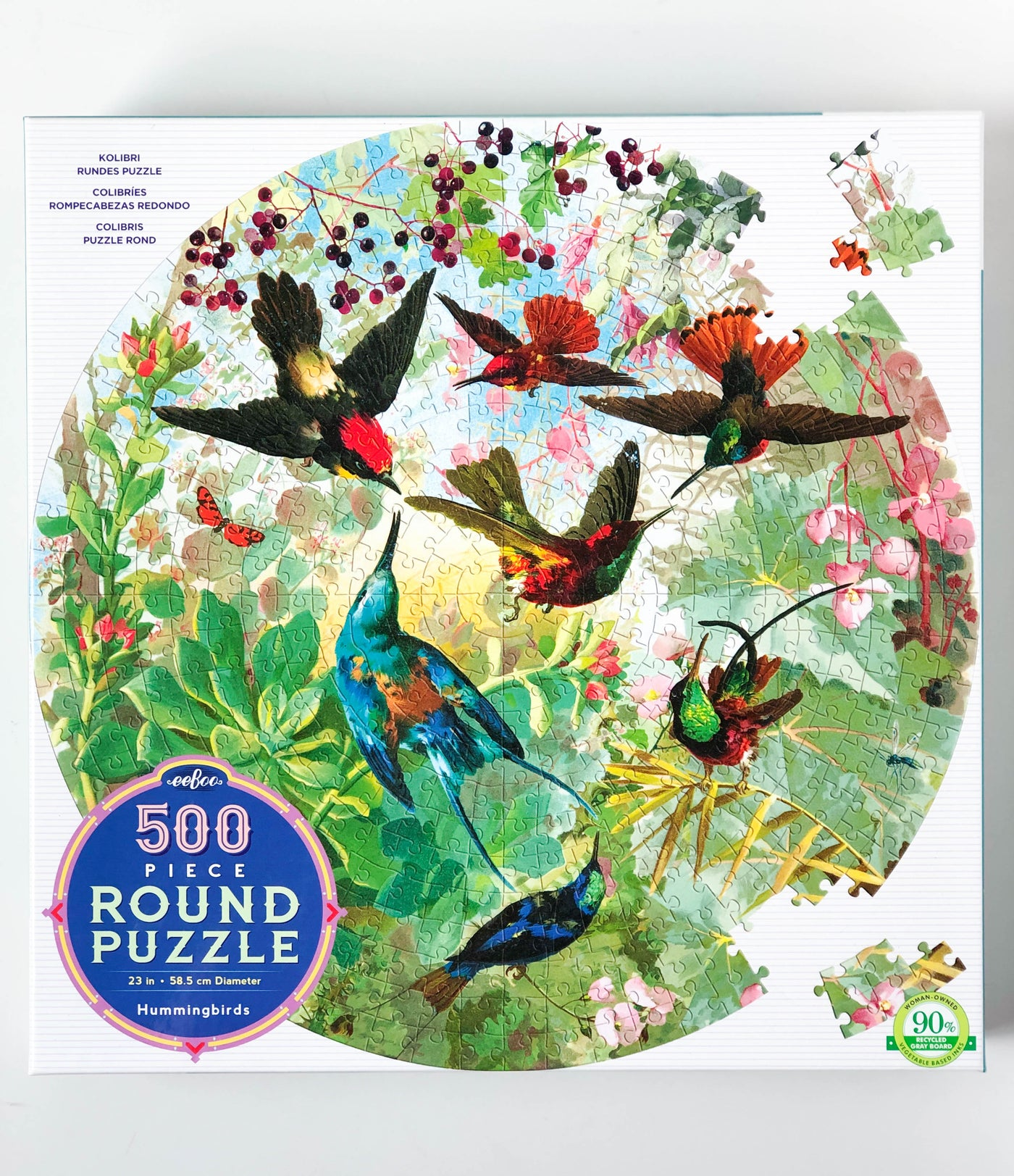 Hummingbirds | 500 Piece Round Puzzle