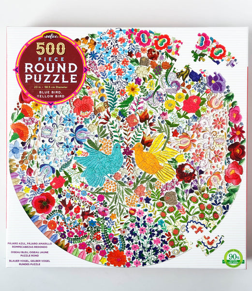 Blue Bird, Yellow Bird | 500 Piece Round Puzzle