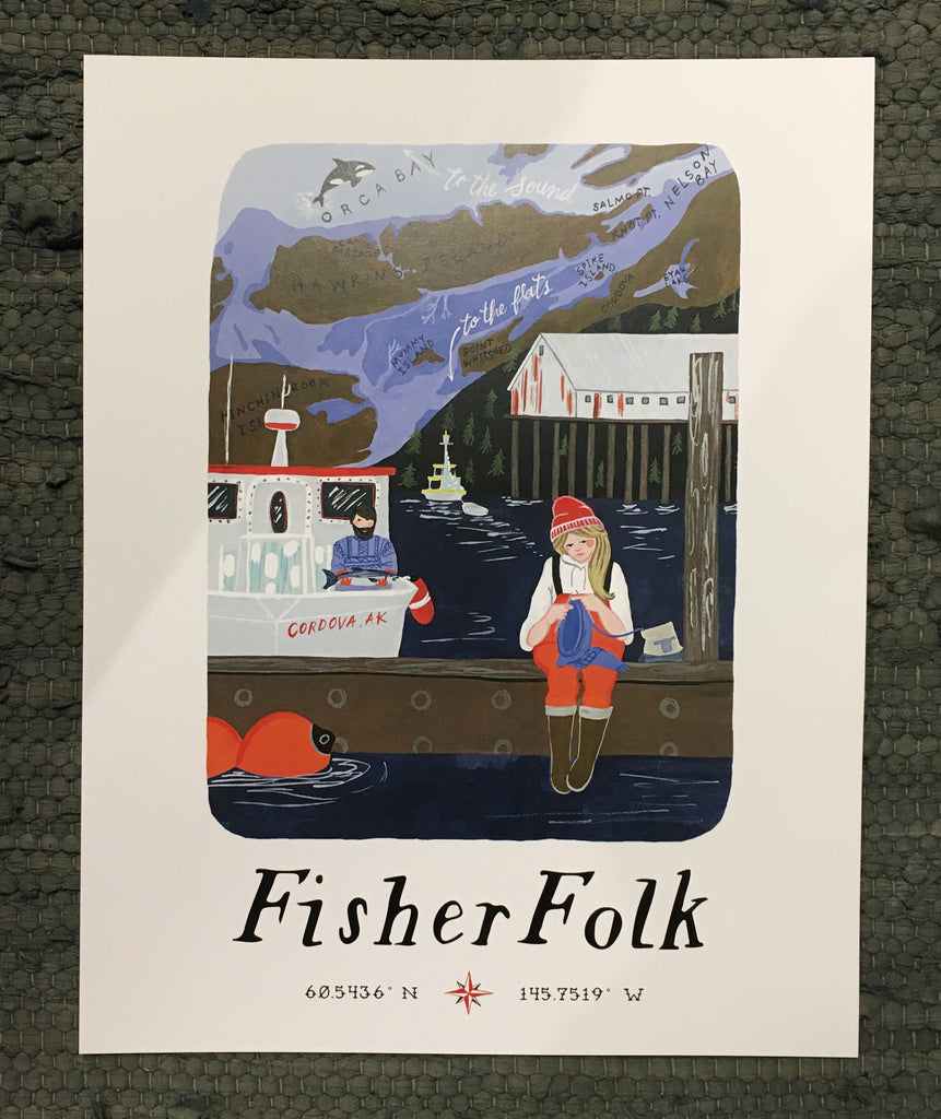 FisherFolk  Cordova Art Print