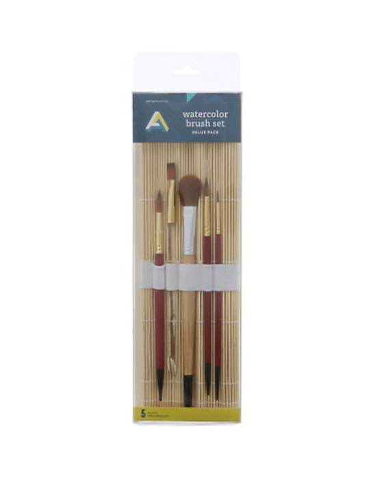Art Alternatives Watercolor Brush Set + Roll-Up Holder