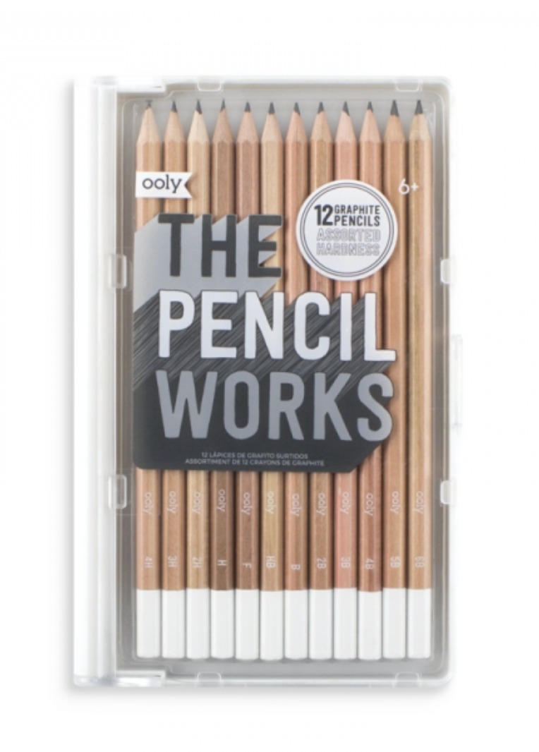 The Pencil Works - 12 Graphite Pencils, Assorted Hardness