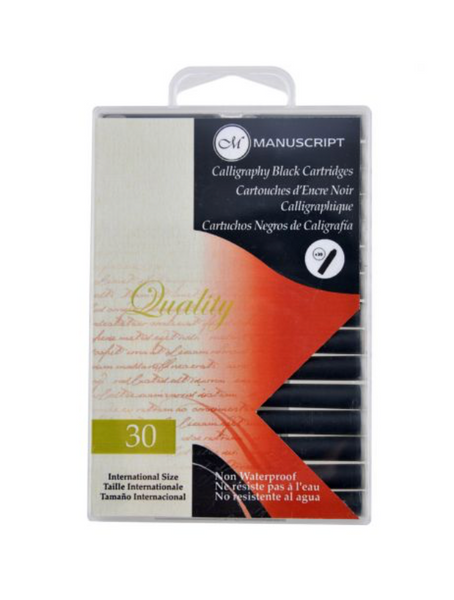 Manuscript Calligraphy Black Cartridges, 30 pack